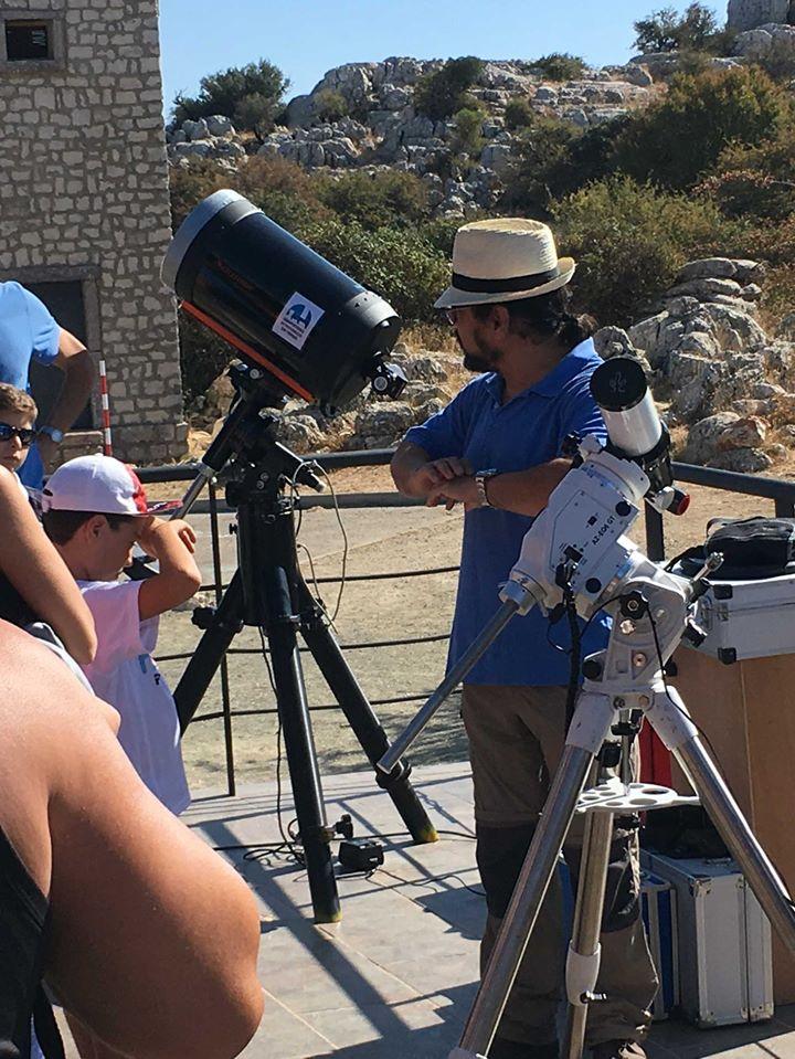 Observación astronómica diurna en el Torcal de Antequera