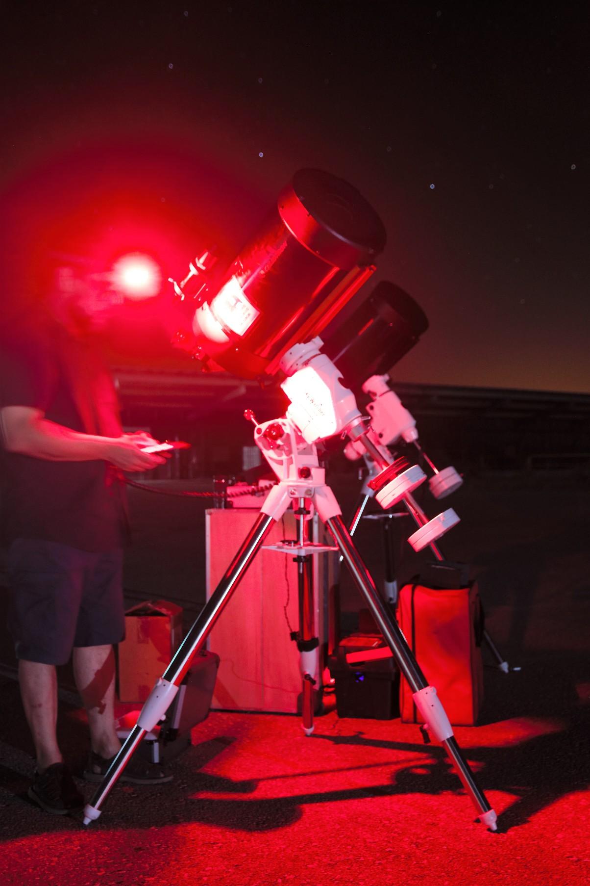 Puesta en estación de telescopios