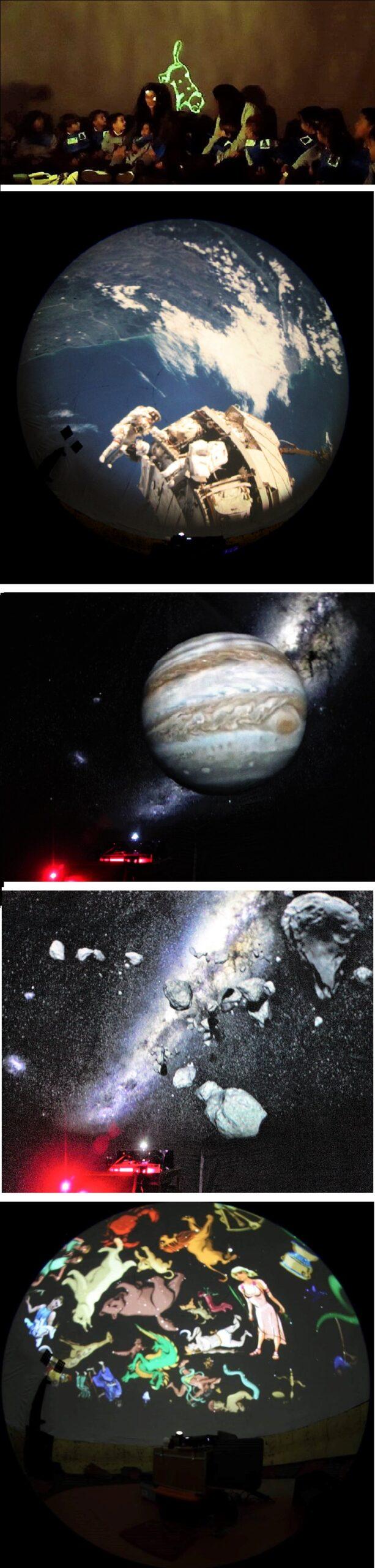 Imágenes del Interior del Planetario con Infantil